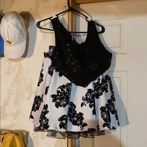 2 piece formal dress.